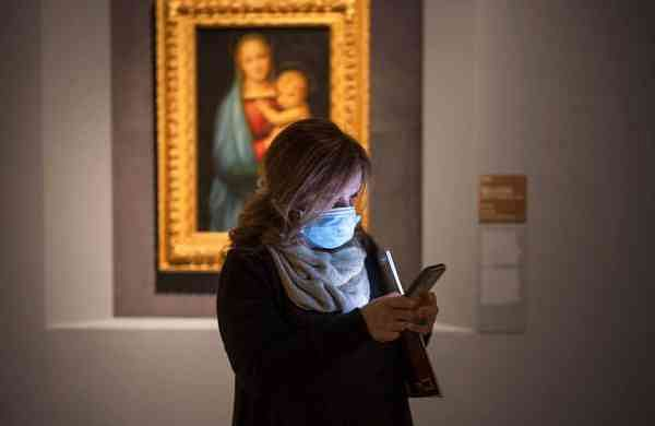 At Raffaello, the Raphael exhibition in Rome (AP Photo/Domenico Stinellis)