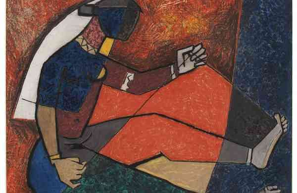 'Untitled (Lady Weaving)' by MF Husain (circa 1950s); estimate USD 40-60,000