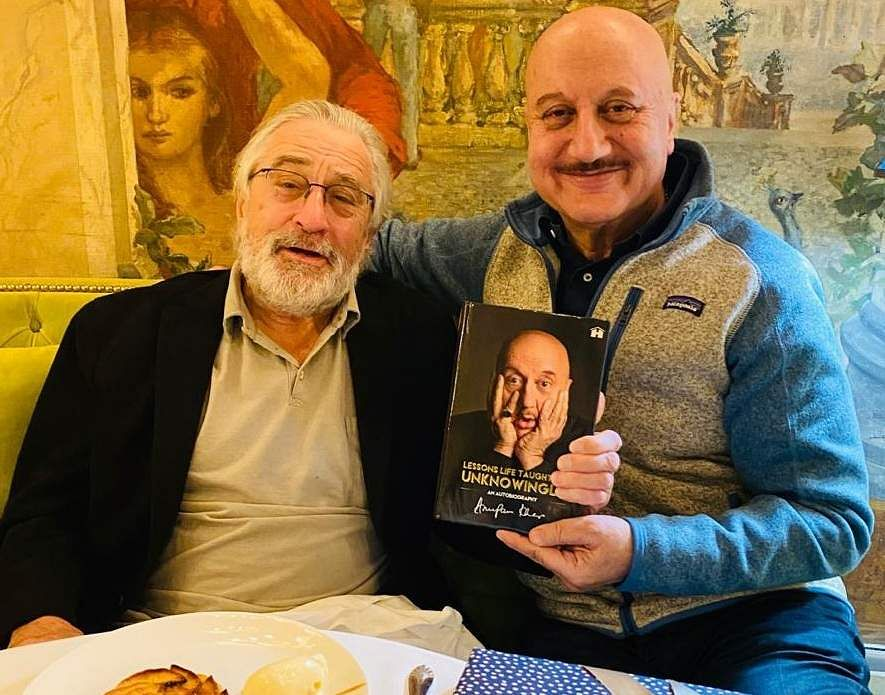 Anupam Kher celebrates his 65th birthday with Robert De Niro (Photo: IANS)