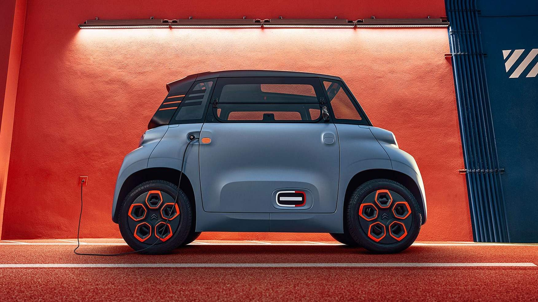 Citroen Ami: A new urban motility vehicle; 100% electric, zero CO2 emissions, battery charges in 3 hours. And in Europe youngsters can drive it without a licence. INR 4.8 lakh.