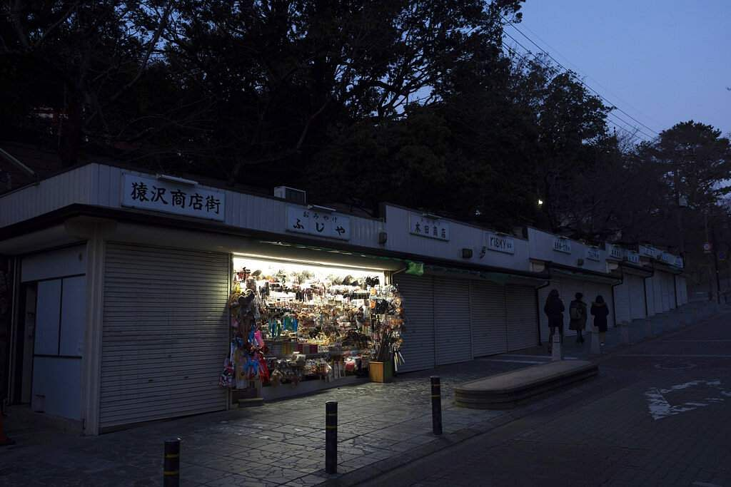 Tadayuki Takiguchi's souvenir shop remains open in Nara, Japan. Nara was among the first Japanese town hit by the COVID-19 in late January. (AP Photo/Jae C Hong)