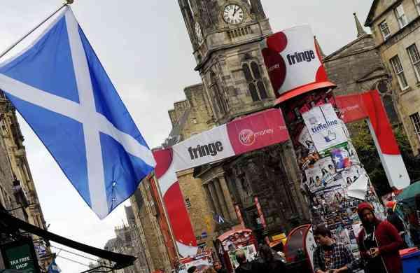 A scene from the Edinburgh Fringe Festival (AFP/Andy Buchanan)