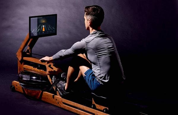 "Ergatta Connected Rower: An elegant device loaded with high-tech gaming-based software for best workout possible. Portable with 17.3"" screen, uses water for quiet, smooth resistance. INR 1.5 lakh."