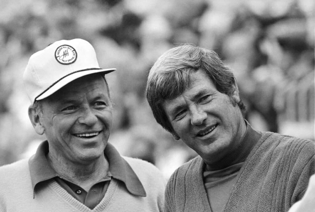 Frank Sinatra and Doug Sanders (AP Photo, File)