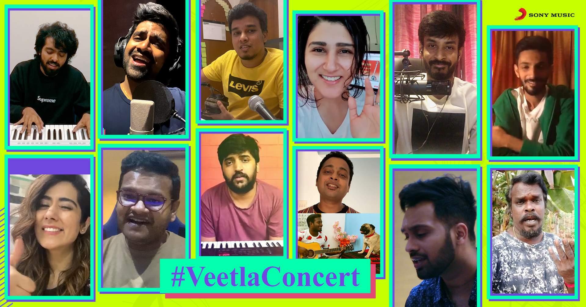 The participating musicians for Veetla Concert