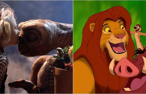 Stills from E.T. and The Lion King