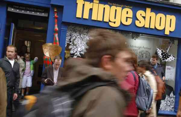 Fringe Shop on Edinburgh's Royal Mile (AP Photo/Scott Campbell, File)