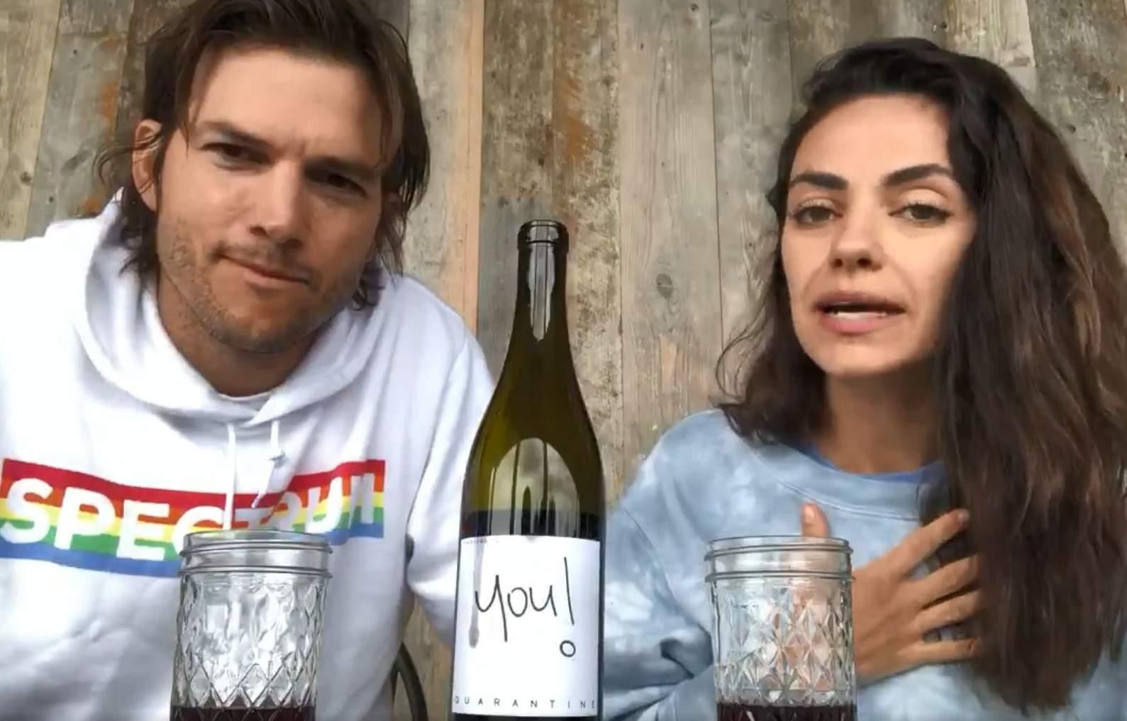 Mila Kunis and Ashton Kutcher launch their own quarantine wine (Photo: Internet)