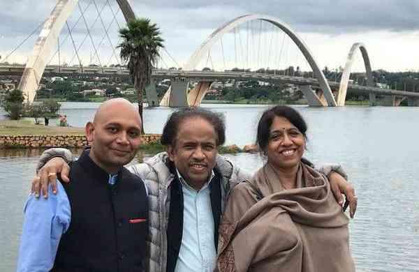 Dr L Subramaniam, Abhay K and Kavita Krishnamurti (Photo: ANI)
