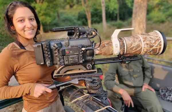 Munmun Dhalaria safari filming in Corbett