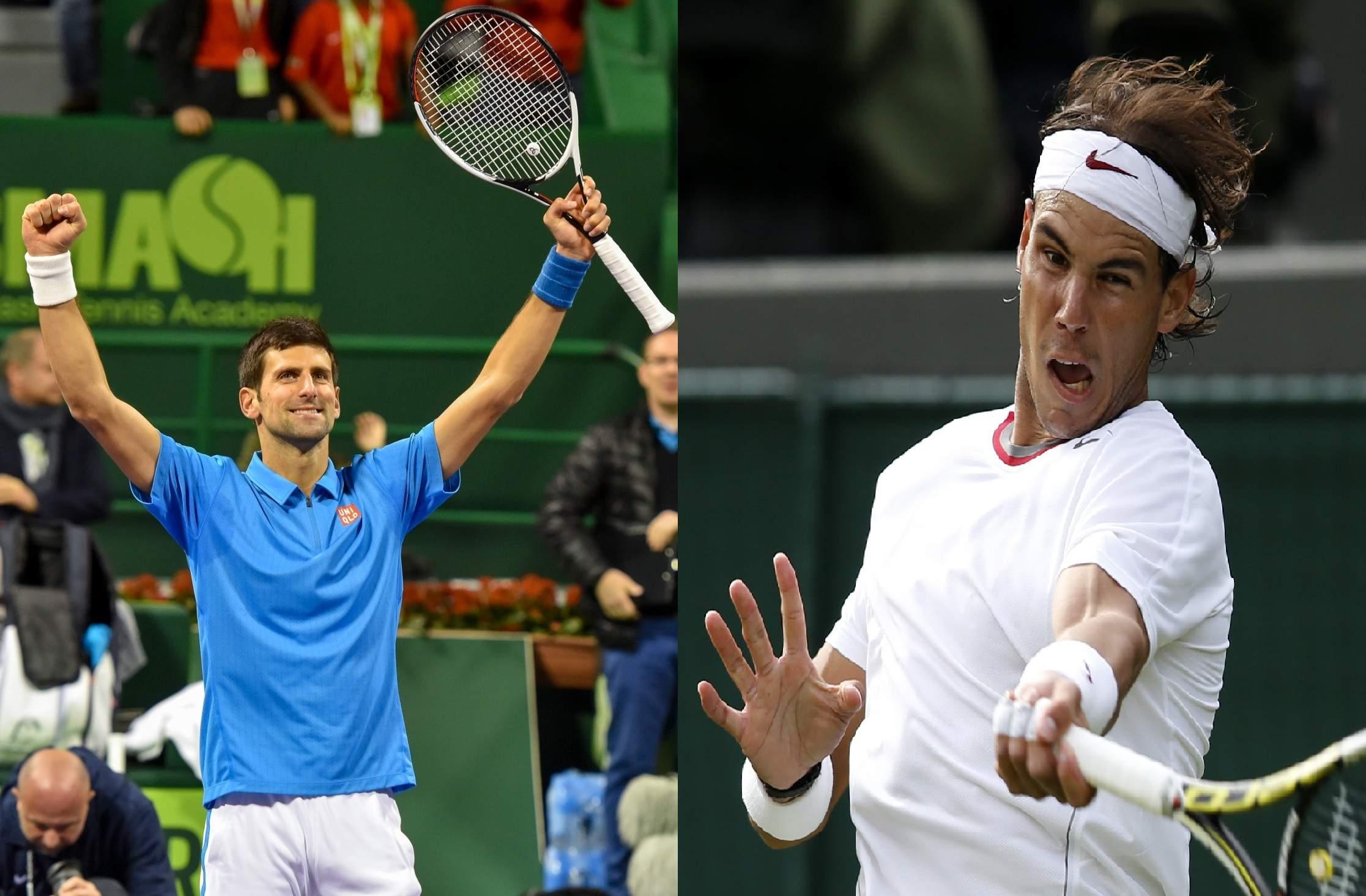 Novak Djokovic & Rafael Nadal (Photos: IANS)