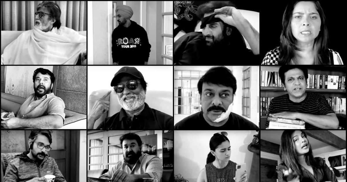 Watch: Big B, Rajinikanth, Mammootty, Priyanka, Alia, among other stars join hands for short film to