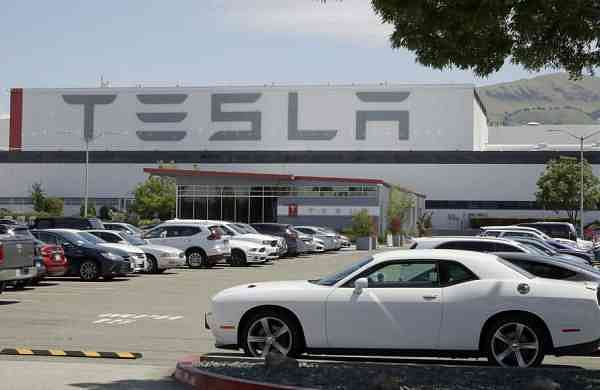 Tesla car plant (AP Photo/Ben Margot)