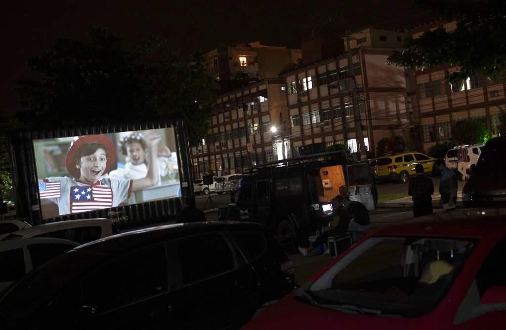 Community screenings in Rio, Brazil (AP Photo/Silvia Izquierdo)