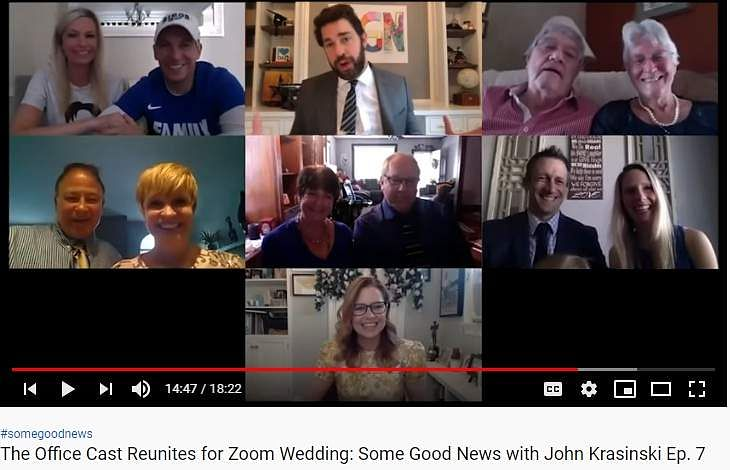 The Office cast reunites for a Zoom wedding