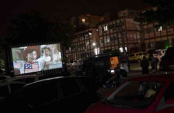 Community screenings in Rio, Brazil (AP Photo/Silvia Izquierdo)