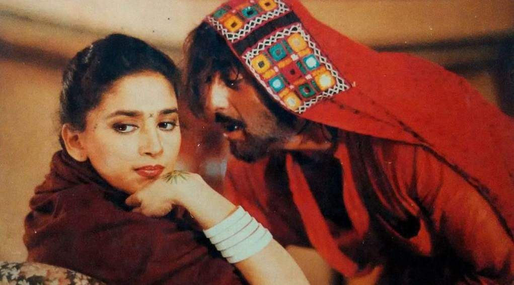 Perhaps one of her most nuanced roles, in Khal Nayak Madhuri plays an undercover cop who goes under disguise as a nautch girl to catch a criminal
