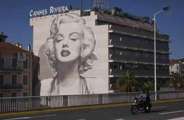 A mural of Marilyn Monroe in Cannes (AP Photo/Daniel Cole)