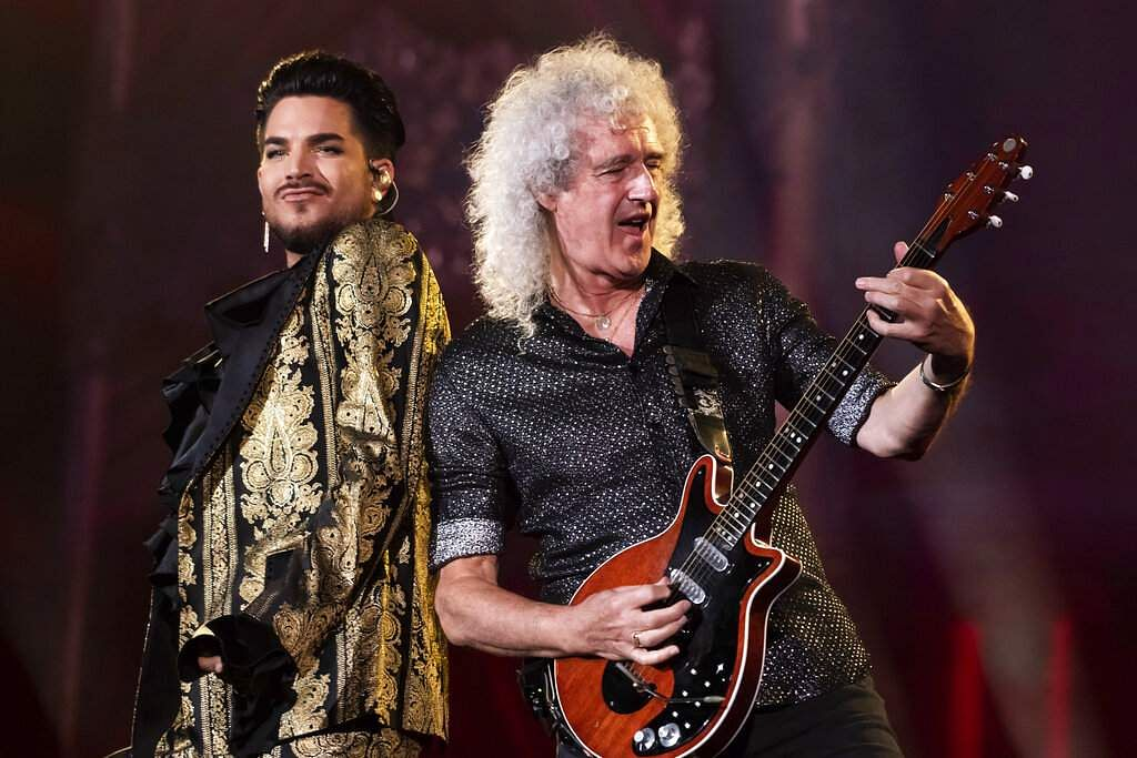 Adam Lambert and Brian May of Queen (Photo by Charles Sykes/Invision/AP, File)