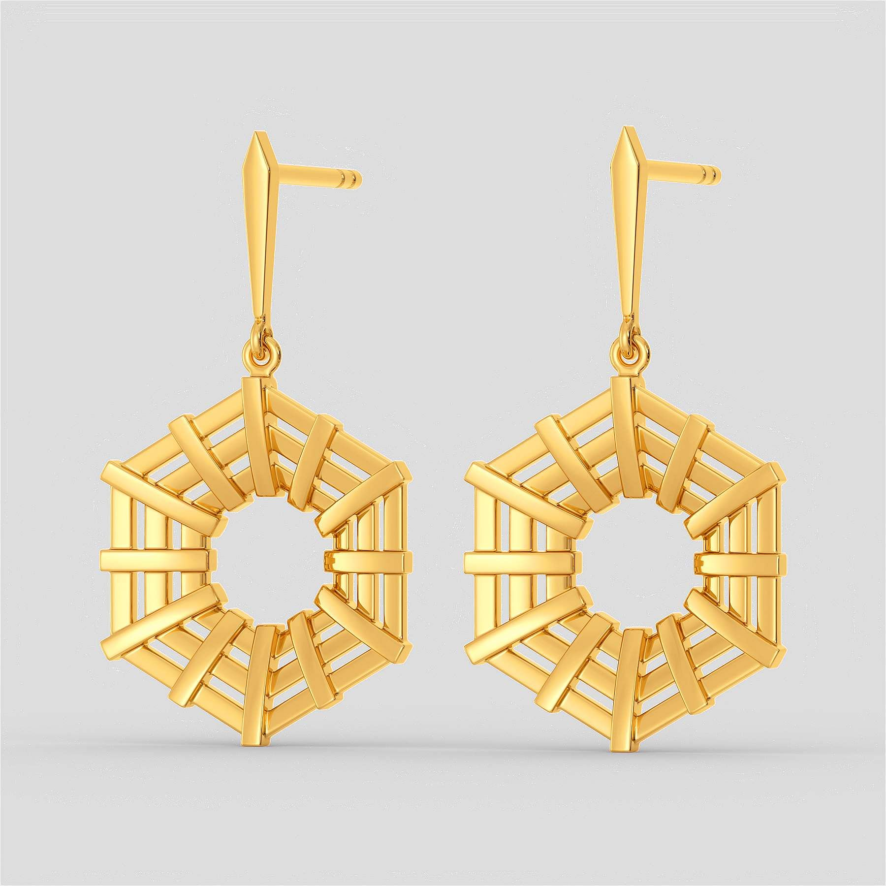 Ethically_African_Gold_Earring_-_Raffia_Collection