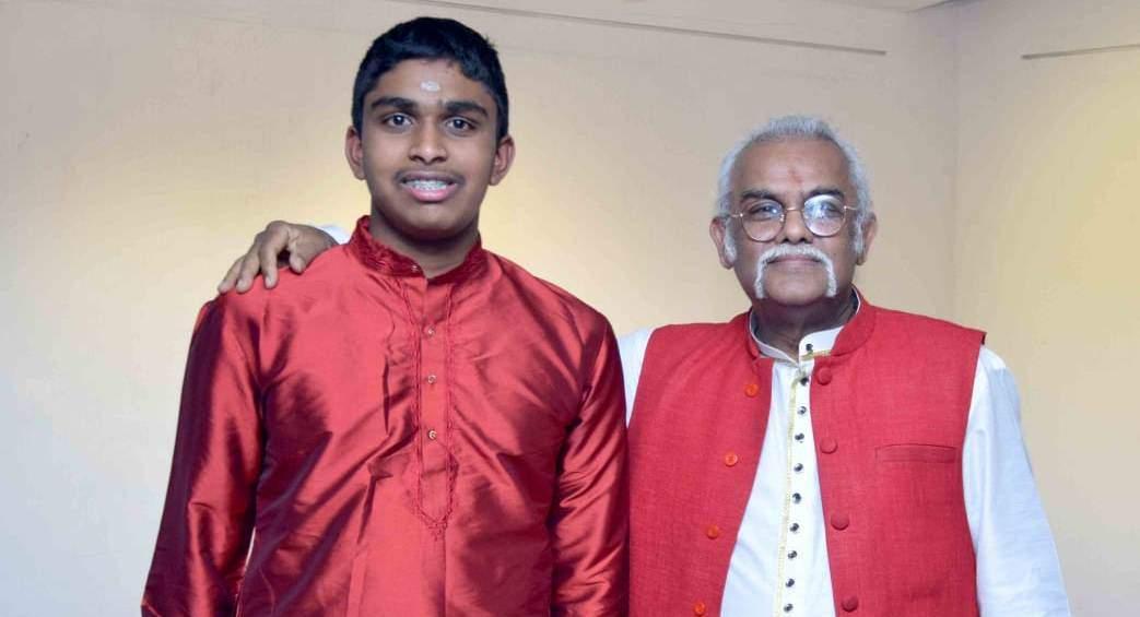 Karthik Iyer with Pandit Tarun Bhattacharya