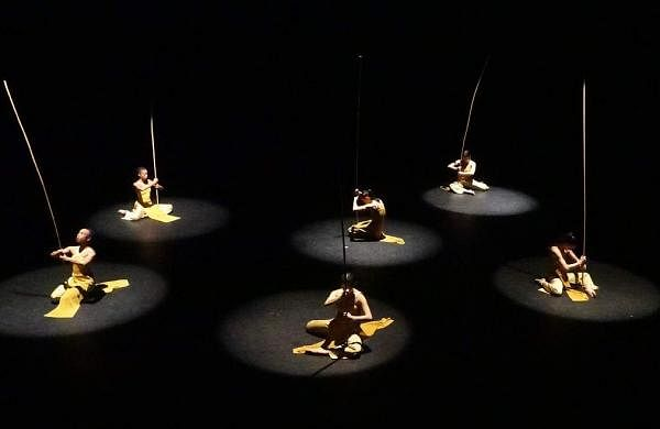 A scene from one of the earlier productions by Nai-Ni Chen Dance Company