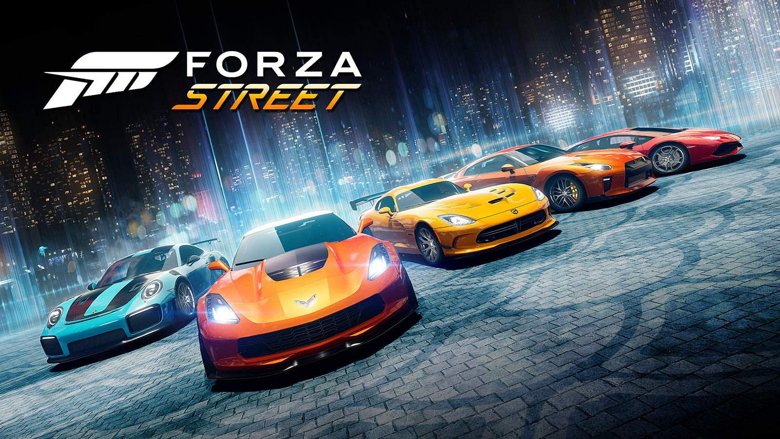 Forza Street: Launching on iOS & Android on May 5, Forza Street pits you online against the best with legendary race cars. Rich new graphics, racing UI - sure to be a massive hit. Details online.