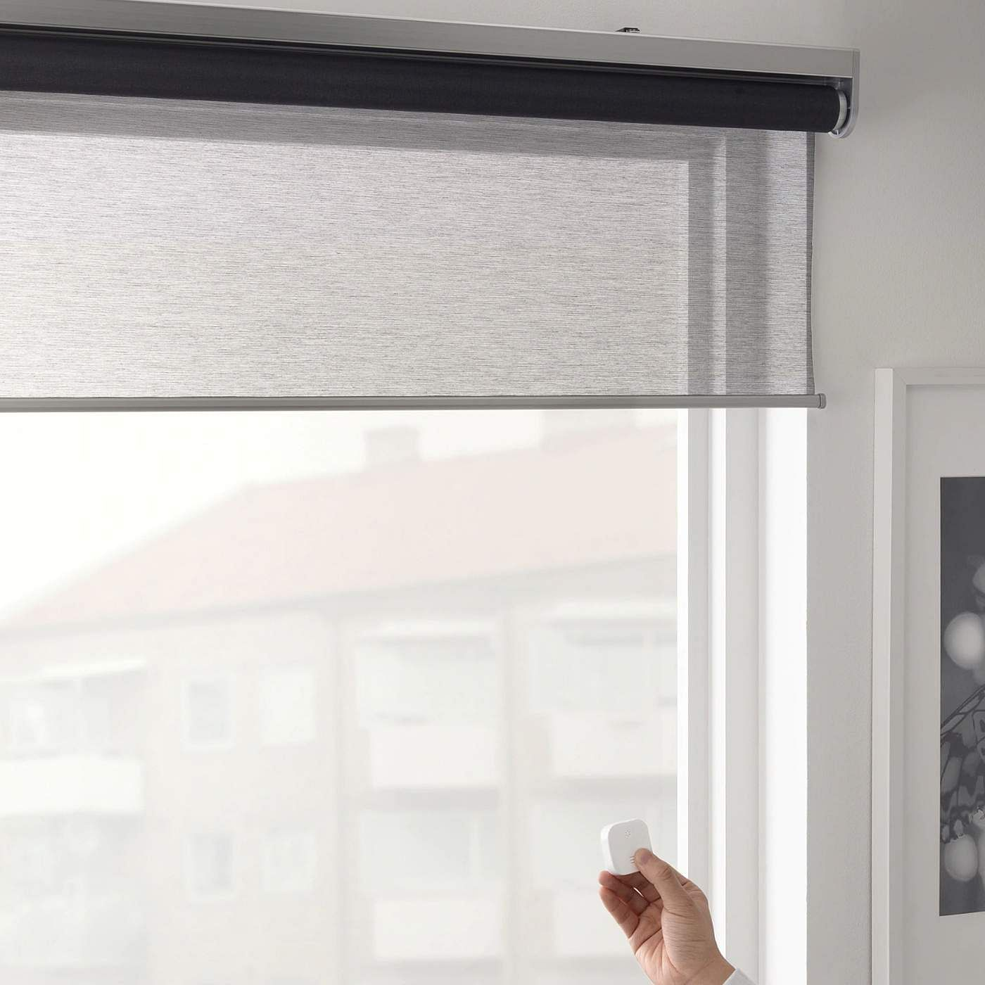 Ikea's new FYRTUR Smart Roller blinds are electric & smart. Can be programmed to wake you up gently via an app. Custom sizes & differing levels of transparency. INR 9,800.