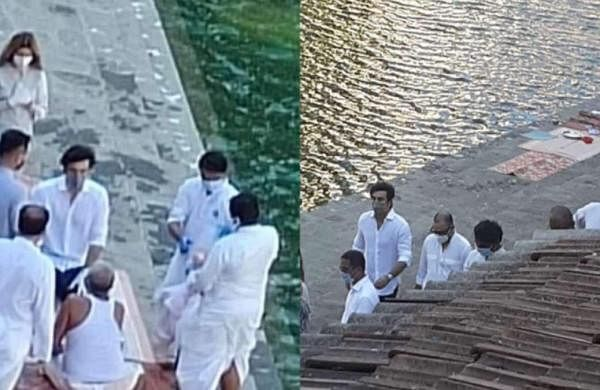 Alia Bhatt, Ayan Mukerji accompany as Ranbir immerses Rishi Kapoor's ashes in Mumbai's Banganga