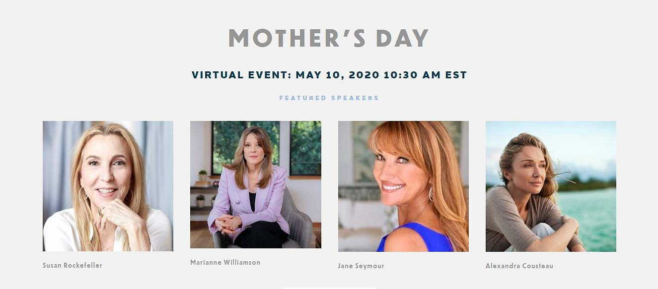 The top speakers for the We The Planet Mother's Day special event