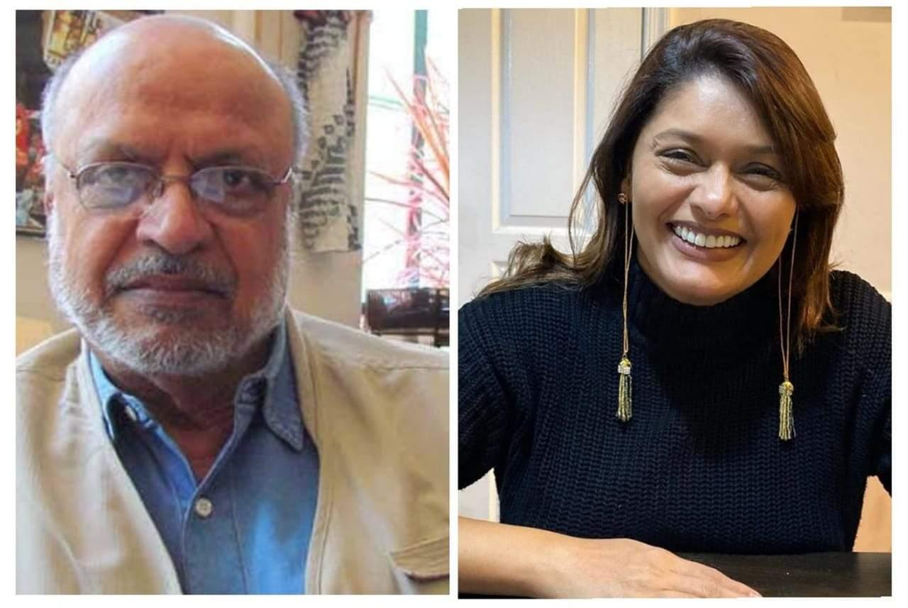Shyam Benegal and Pallavi Joshi