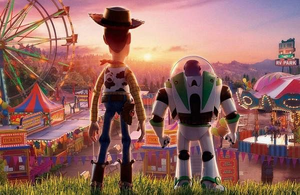 Sheriff Woody and Buzz Lightyear look beyond infinity