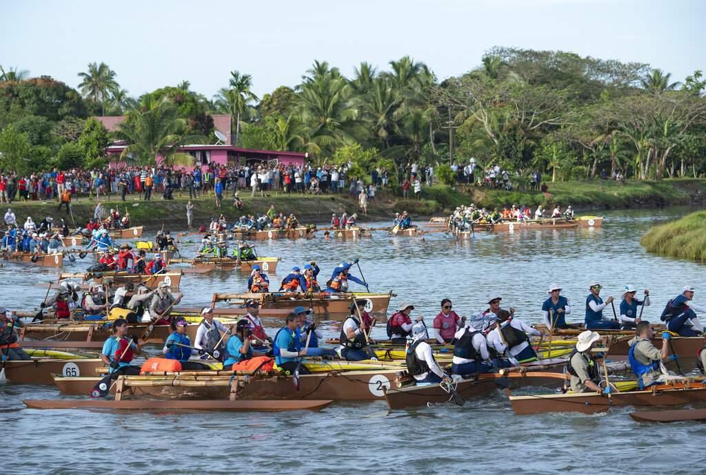 2019 Eco-Challenge race in Fiji (Corey Rich/Amazon via AP)