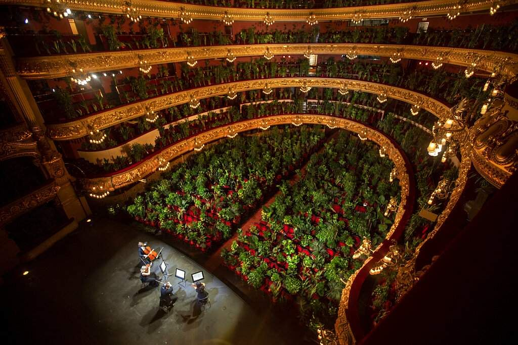 At the Gran Teatre del Liceu in Barcelona, Spain (AP Photo/Emilio Morenatti)