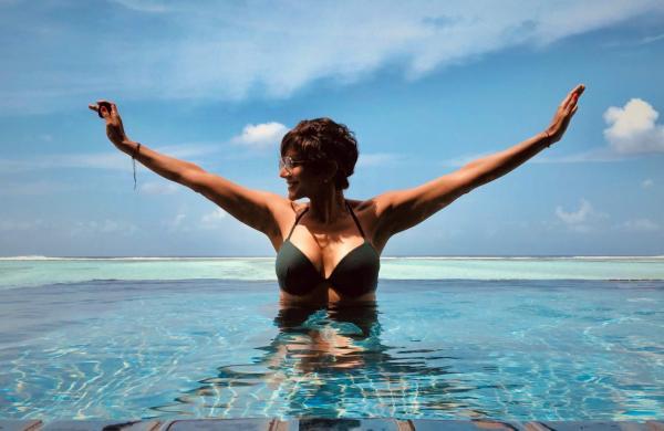 Mandira Bedi chilling in Maldives