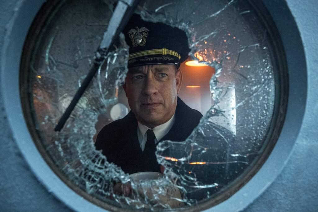 Tom Hanks in Greyhound (Apple TV via AP)