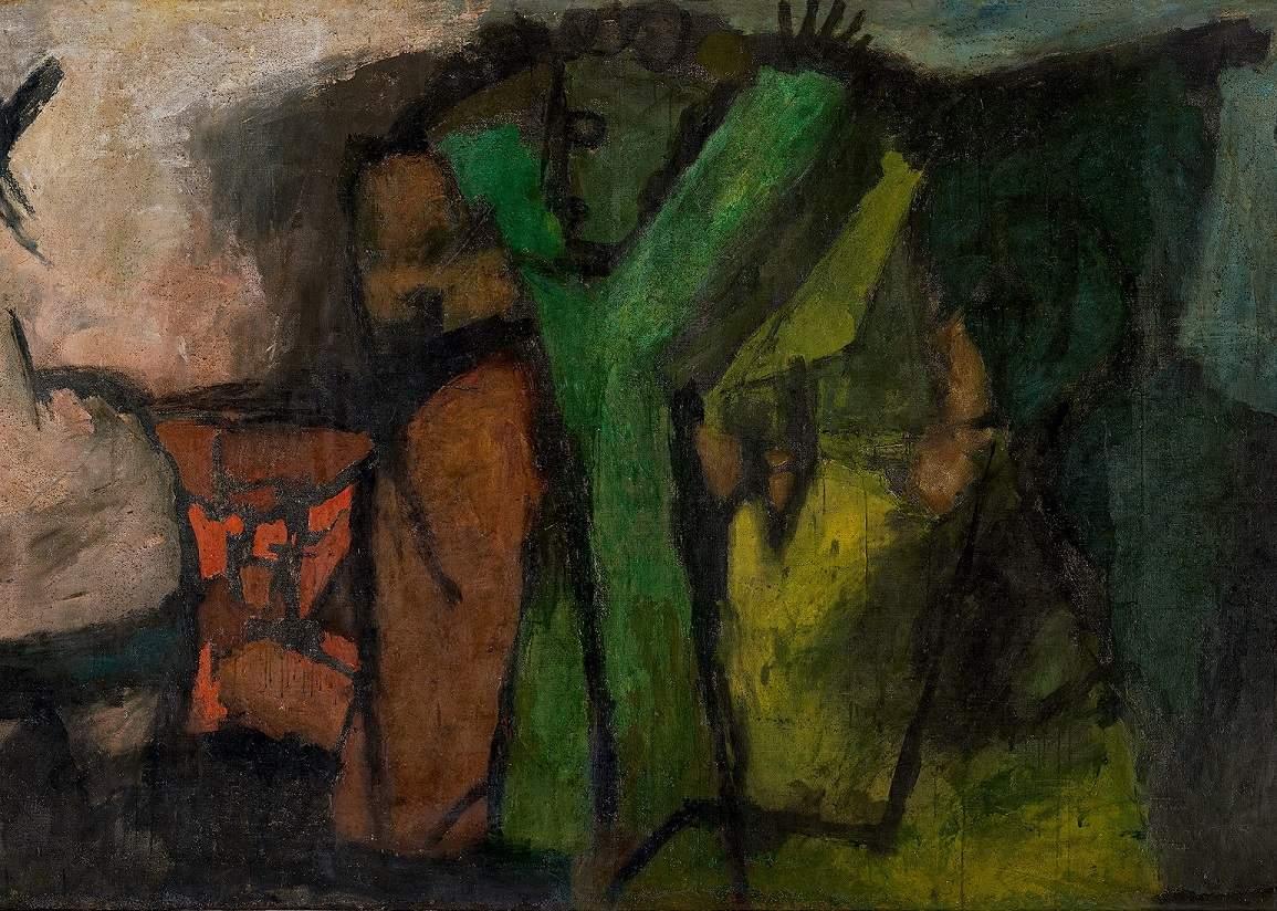 DETAIL: MF Husain, Voices, 1958, courtesy AstaGuru