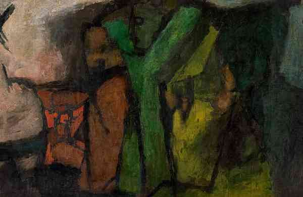 DETAIL: MF Husain, Voices, 1958, courtesy AstaGuru