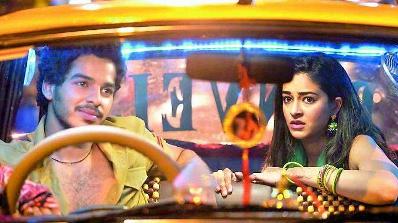 A still from Khaali Peeli with Ishaan Khatter and Ananya Panday