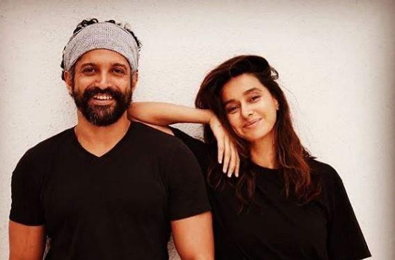 Farhan Akhtar and Shibani Dandekar. Image courtesy: Farhan Akhtar's Instagram account