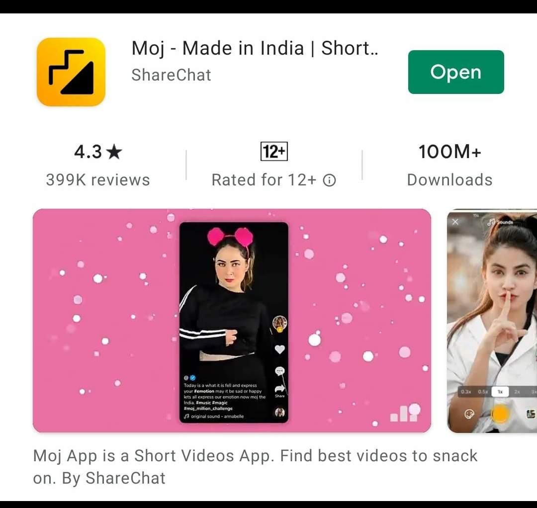 Moj crosses 100mn downloads on Google Play Store