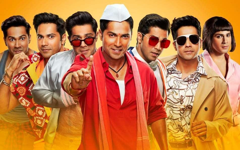 Coolie No 1 poster with Varun Dhawan