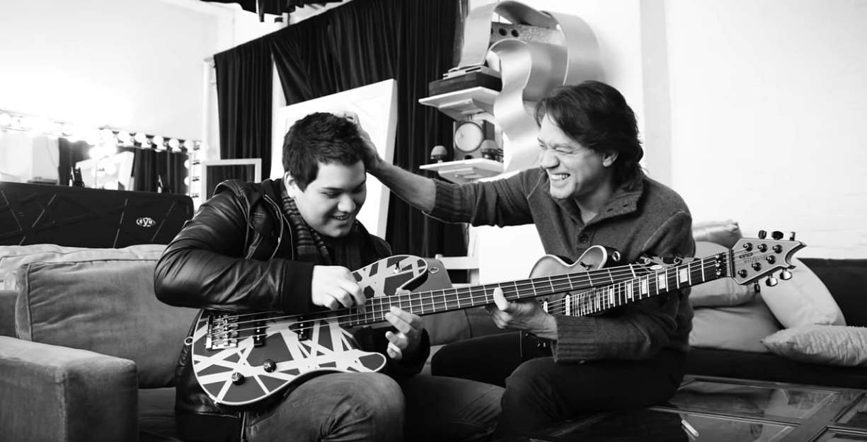 Young Wolfgang with Eddie Van Halen