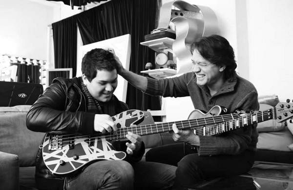 Young Wolfgang with Eddie Van Halen
