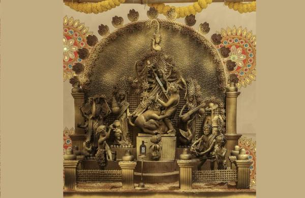 Chefs at ITC Royal Bengal and Sonar sculpted a gourmet Durga