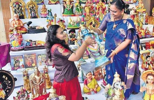 Nandhini Venkatesh's golu setup for Navaratri
