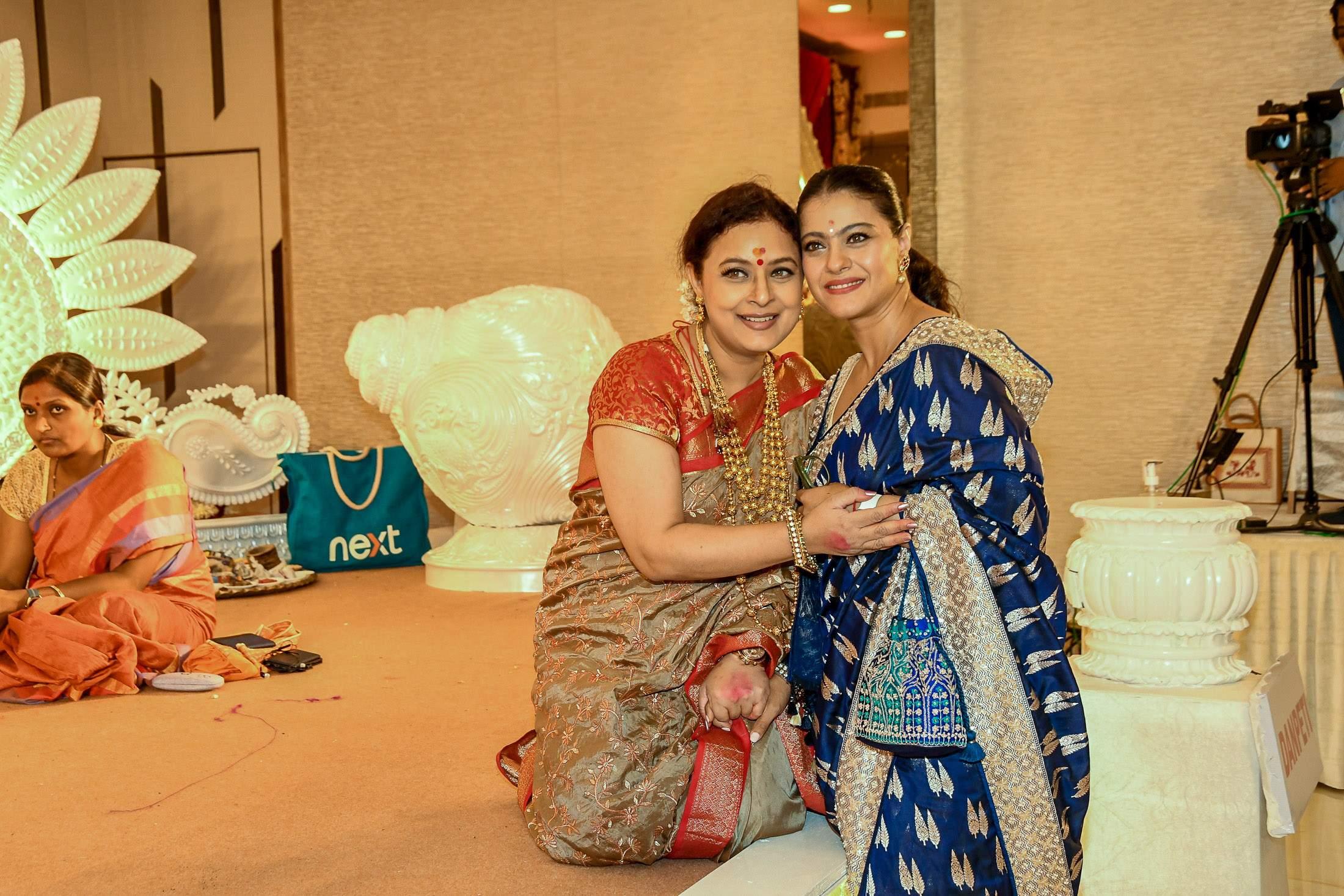 Sharbani Mukherjee with Kajol during