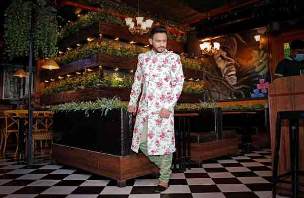 Actor Anindya Chatterjee in a wedding outfit by Warssi Kolkata