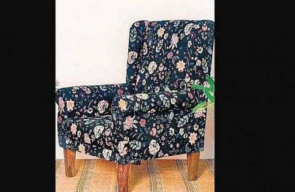 The Comfy Begum Wing Chair-Bohemian Paisleys, a statement piece that will brighten up any corner