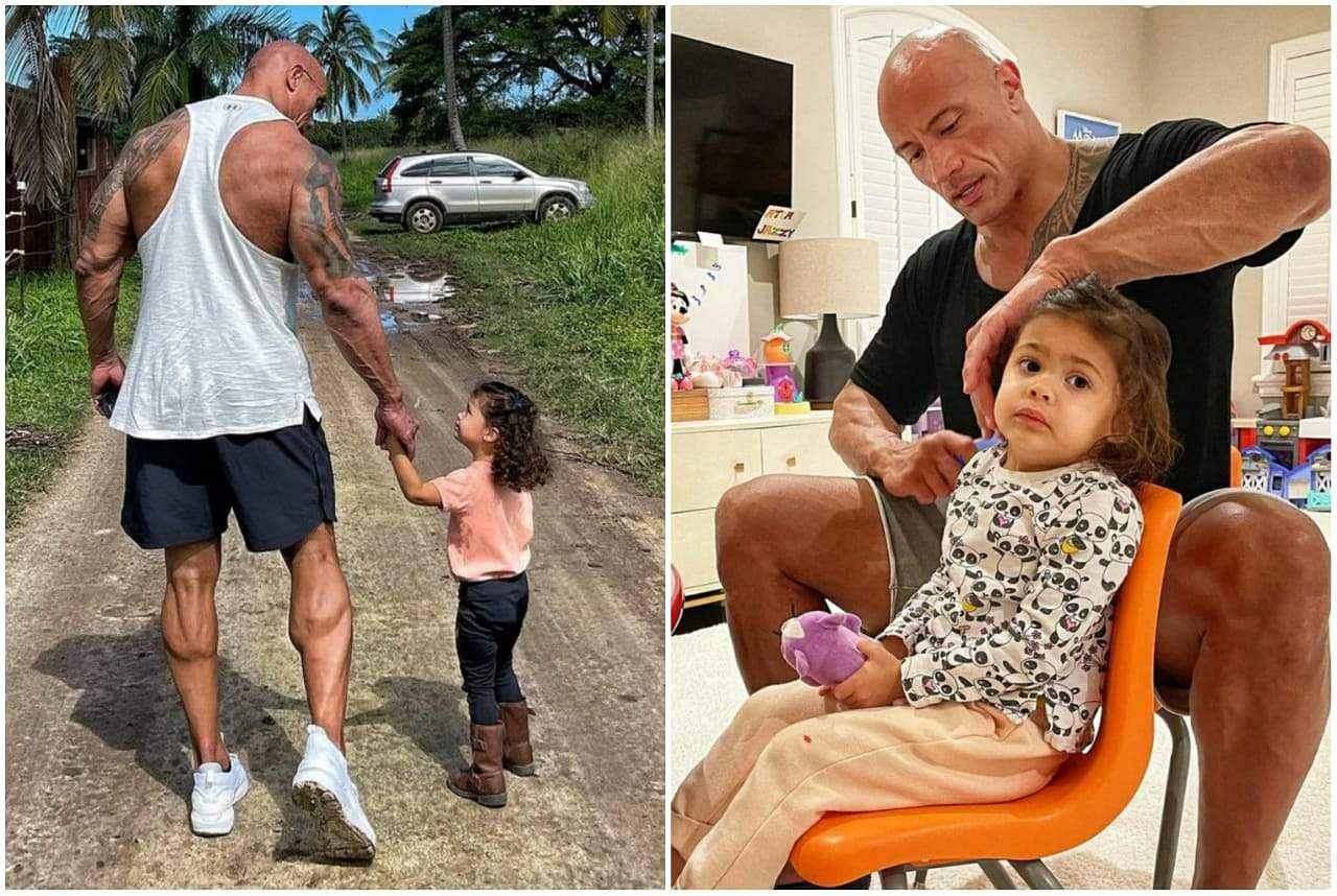 Dwayne Johnson And His Daughters